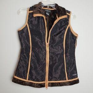 ATHLETA faux fur lined sleeveless vest